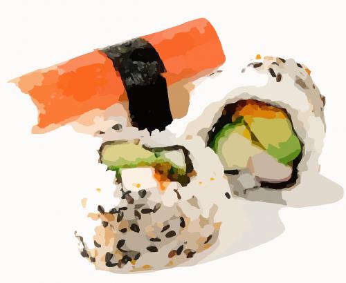 sushi sushi roll rice