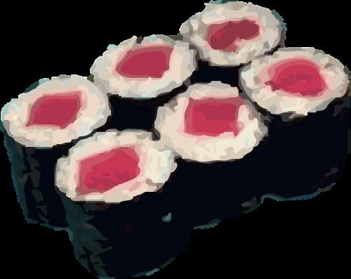 sushi rolls rice