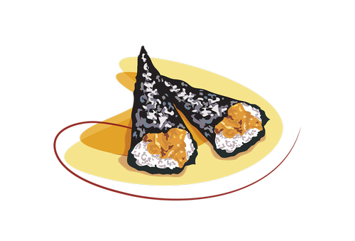 sushi  roll  fish