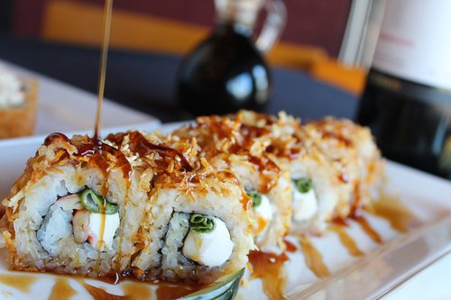 sushi  eel  japan
