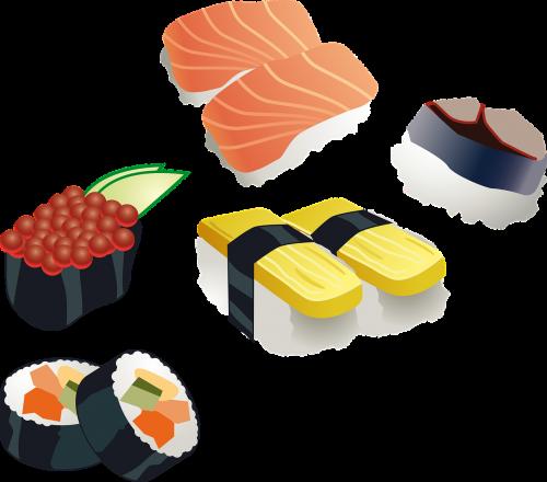 sushi sushi roll japanese
