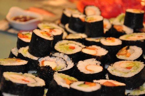 sushi  japanese  homemade