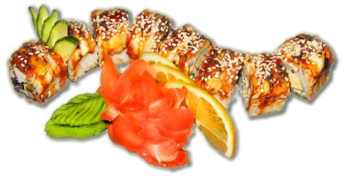 sushi rolls sesame