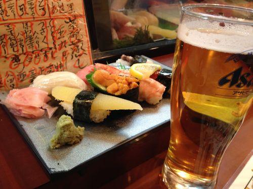 sushi beer japanese