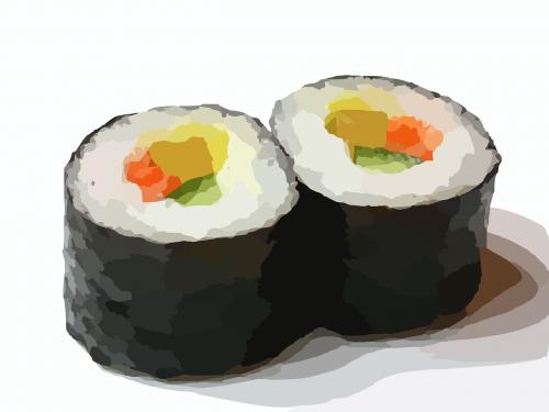 sushi roll sushi food