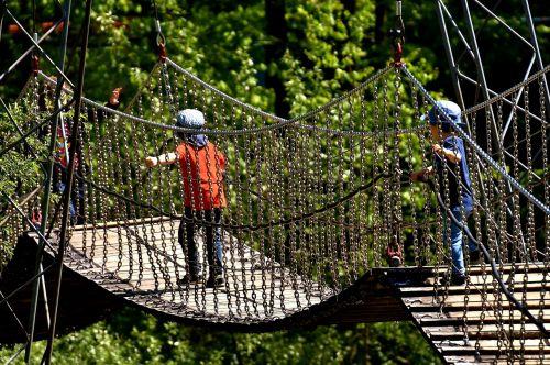 suspension bridge chains children