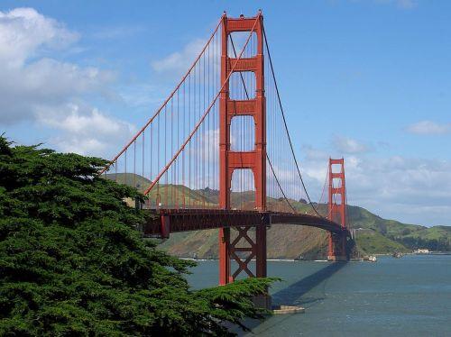 suspension bridge golden gate bridge steel cables