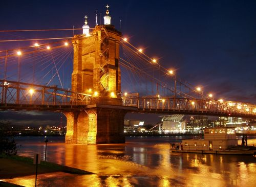 suspension bridge ohio river cincinnati