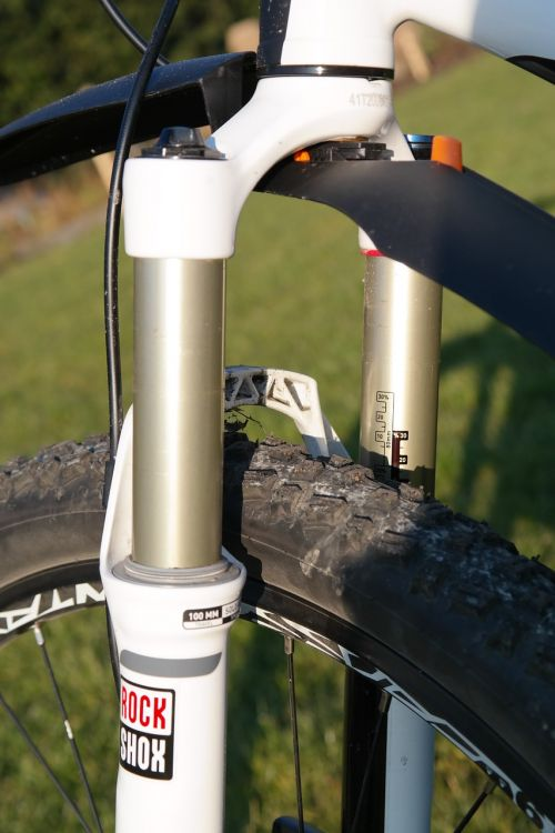 suspension fork mountain bike bike