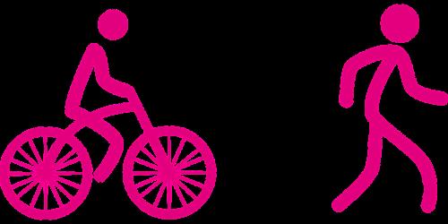 sustainable development cyclist pedestrian