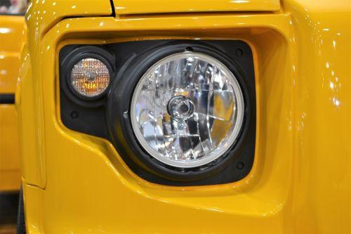 suv headlamp headlight yellow jeep
