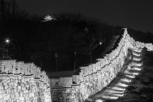 suwon hwaseong  castle  night view