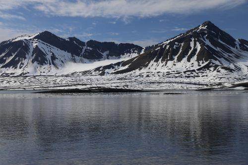 svalbard landscape arctic