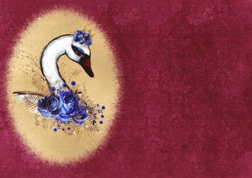 swan roses frame