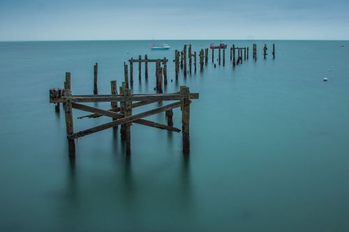 swanage old pier ocean
