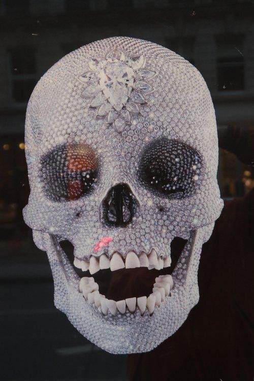 swarovski  skull  skeleton