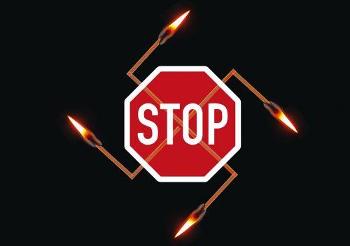 swastika prohibited stop