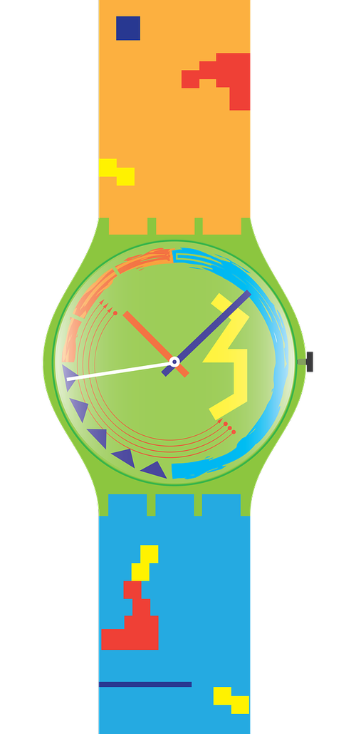 swatch  watch  colorful