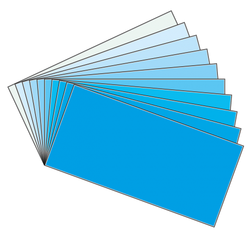 swatches board cyan