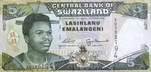 swaziland banknote south africa