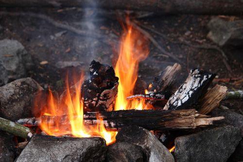 sweden camp bonfire