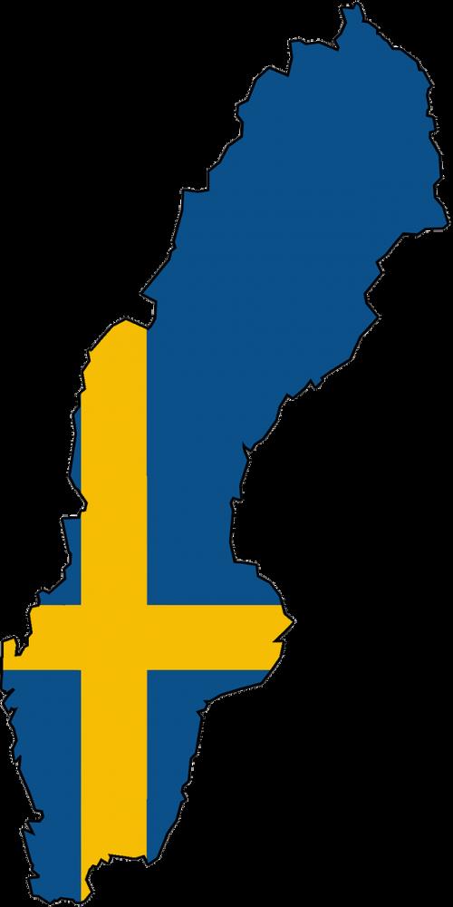 sweden map land