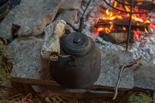 coffee fire pot