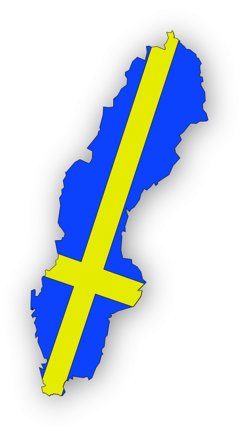sweden map geography