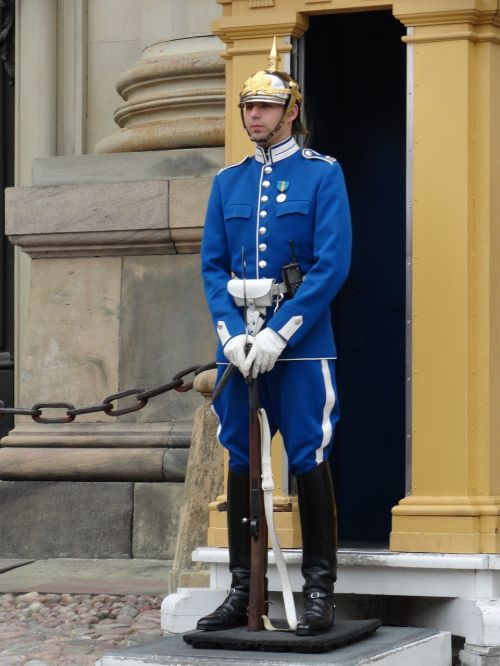 sweden guard man
