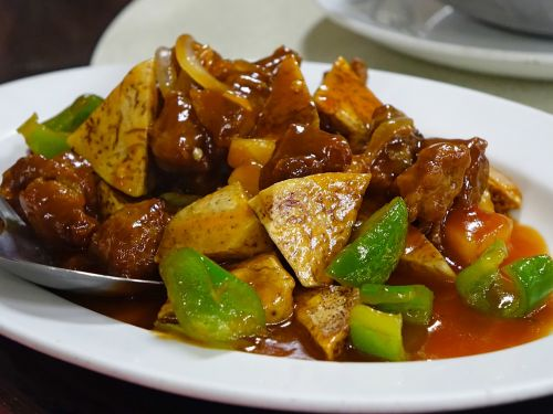 sweet and sour pork stir-fired