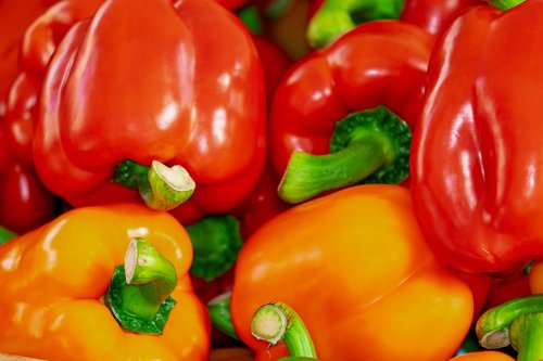 sweet peppers  paprika  red