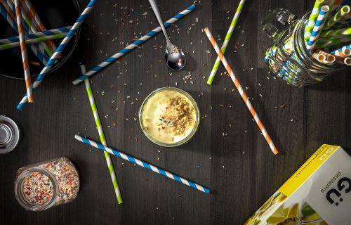 sweets straw sprinkles
