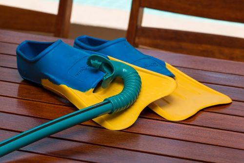 swimming flippers snorkel