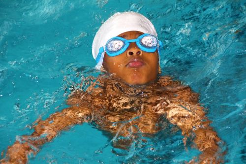 swimming course bathing cap diving mask
