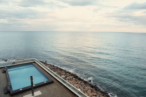 swimming pool pool seaside