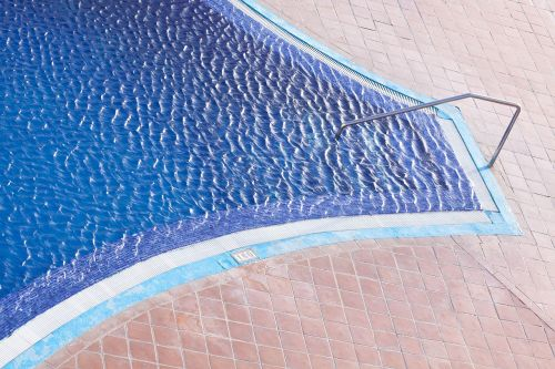 swimming pool entry handrail