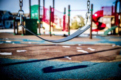 swing playground children playing