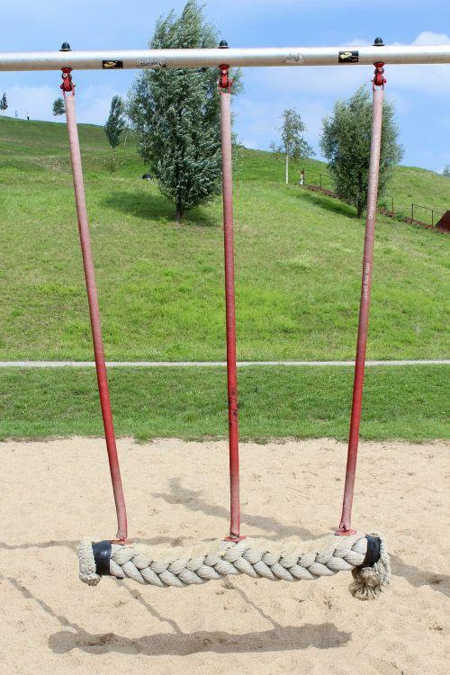 swing playground green