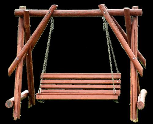 swing  wood  isolated