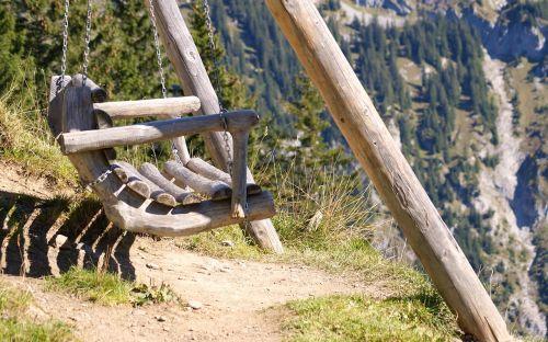 swing sit wood