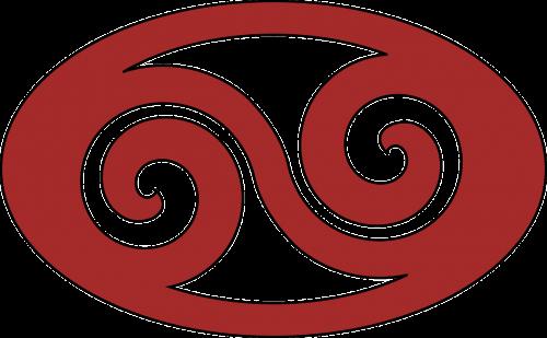 swirl ellipse red