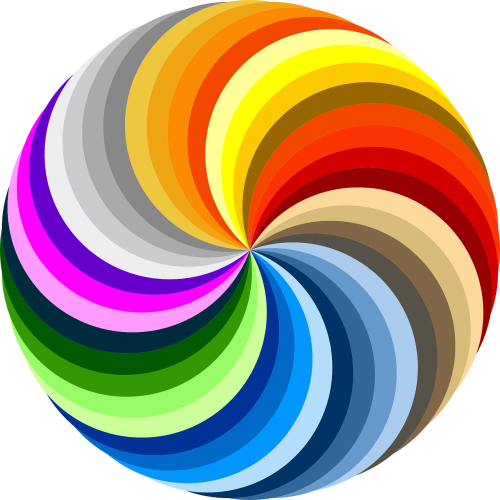 swirl colorful rainbow colors