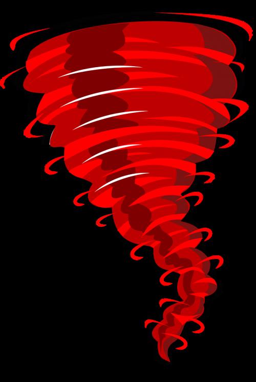 swirl tornado red