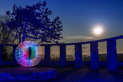swirly orb  lightpainting  light painting