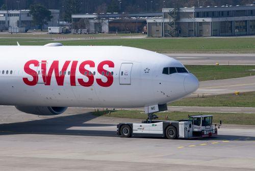 swiss boeing 777 aircraft
