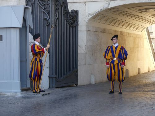 swiss guard guards italy