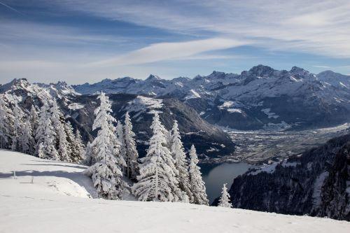 switzerland winter landscape