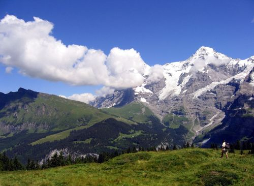 switzerland hiker murren