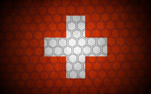 switzerland hexagon flag