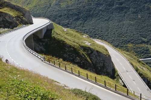 switzerland winding roads alps